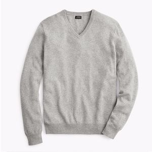 J CREW Italian Cashmere V-neck Sweater Mens Medium